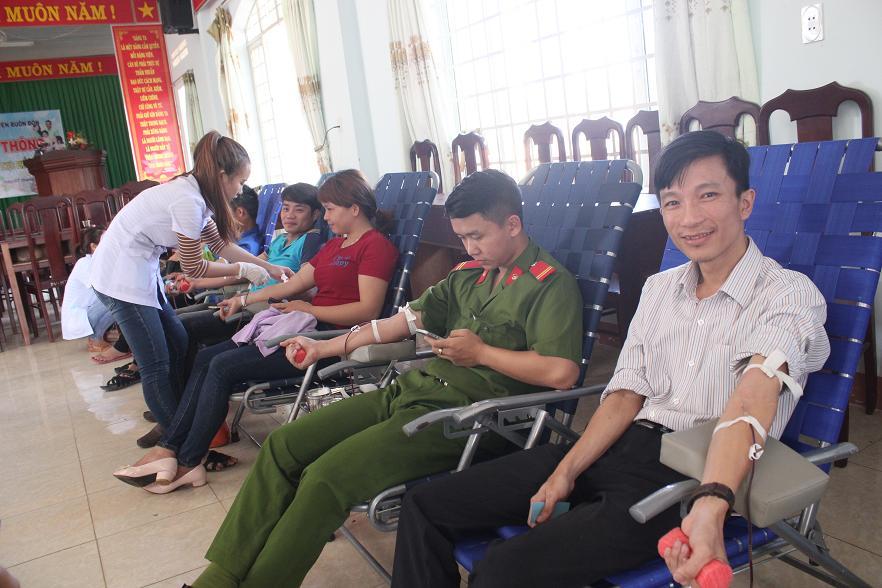 Sôi nổi phong trào hiến máu tình nguyện ở huyện Buôn Đôn
