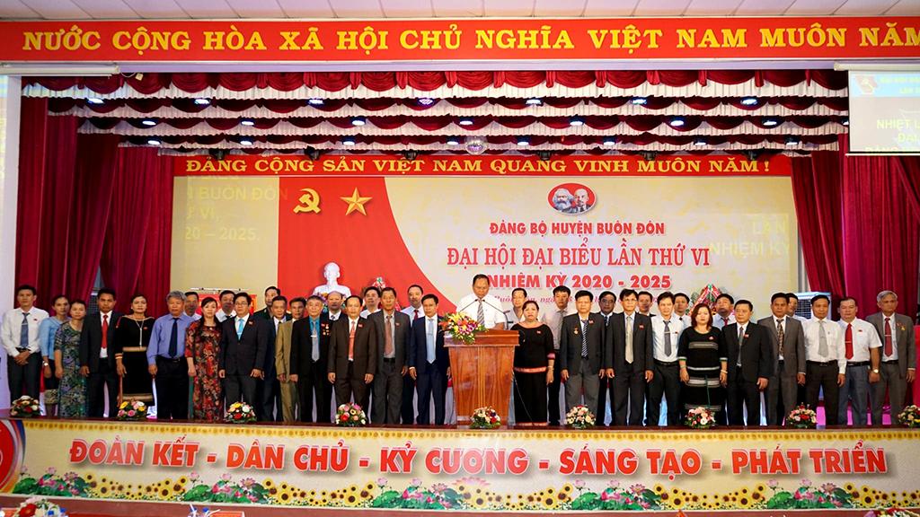 Đồng chí Ya Toan Ênuôl tiếp tục là Bí thư Đảng bộ huyện Buôn Đôn khóa VI