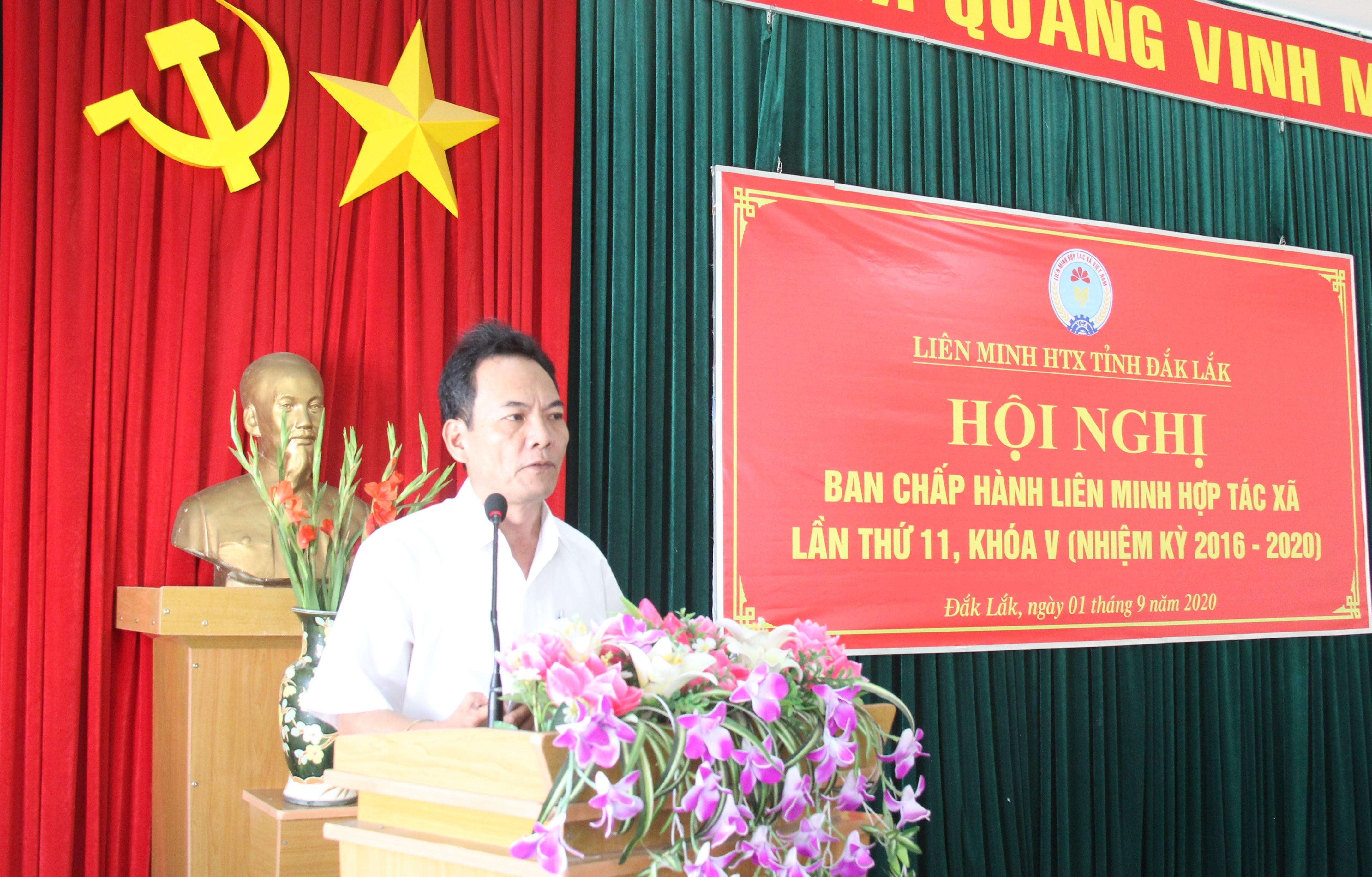 Hội nghị Ban Chấp hành Liên minh HTX tỉnh Đắk Lắk lần thứ 11