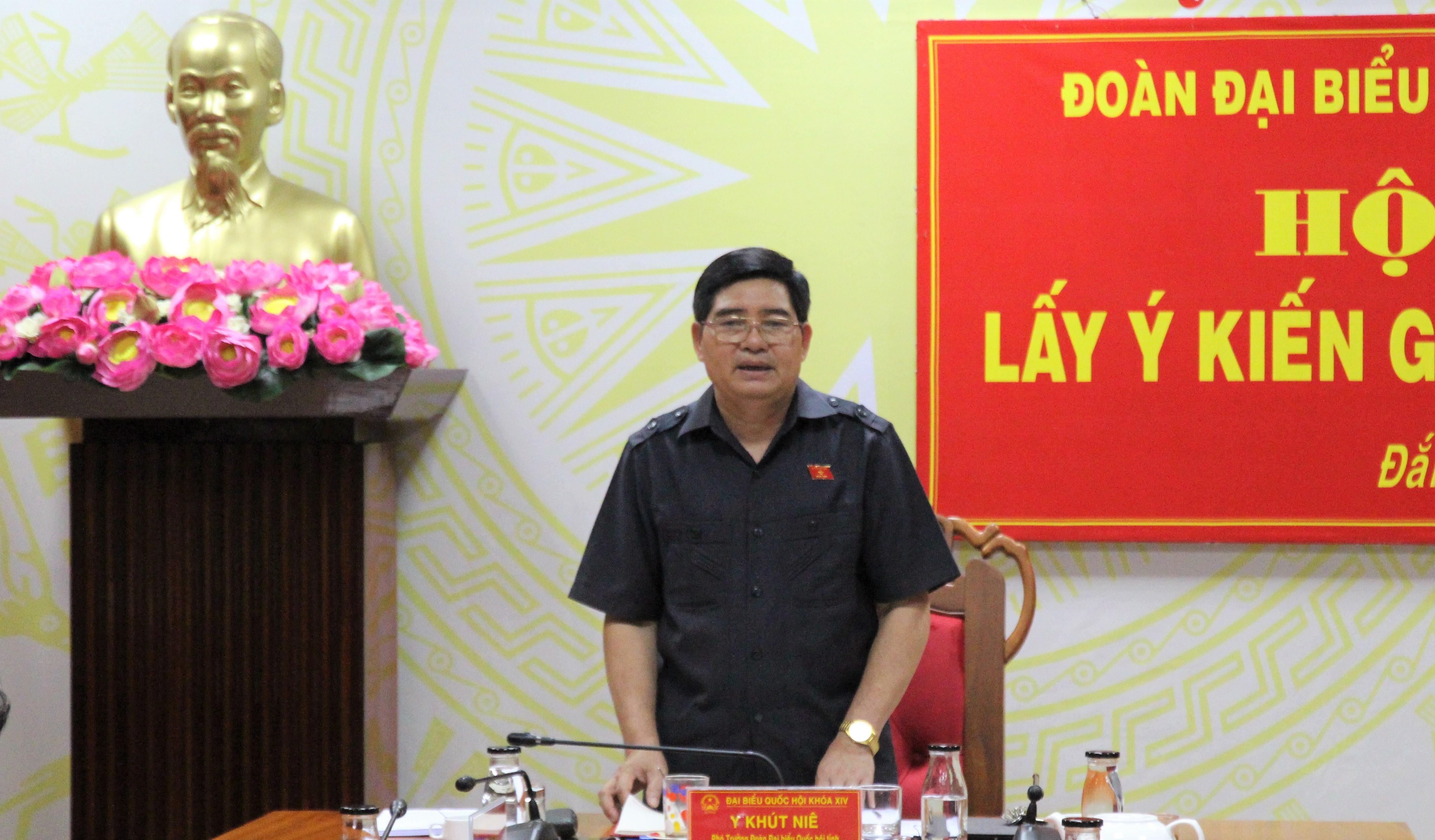 Đoàn Đại biểu Quốc hội tỉnh Đắk Lắk lấy ý kiến góp ý dự thảo Luật
