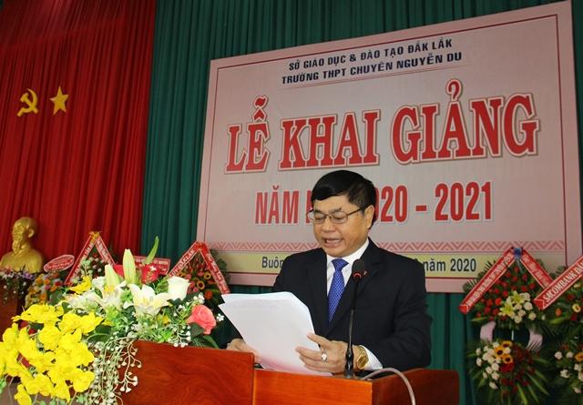Trường Trung học Phổ thông chuyên Nguyễn Du khai giảng năm học 2020-2021