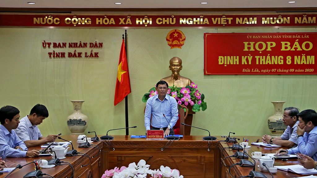 UBND tỉnh họp báo định kỳ tháng 8 năm 2020
