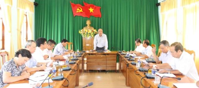 Ủy ban Bầu cử tỉnh kiểm tra, khảo sát công tác triển khai bầu cử ở huyện Krông Ana.