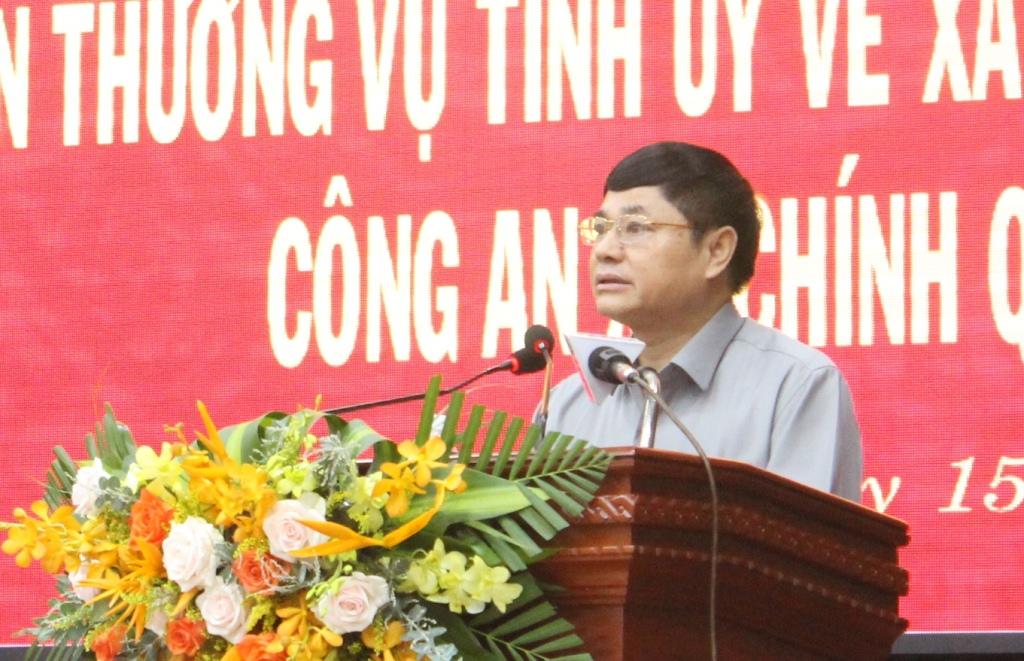 Hội nghị sơ kết thực hiện Nghị quyết số 11-NQ/TU của Ban Thường vụ Tỉnh ủy về xây dựng lực lượng Công an xã chính quy