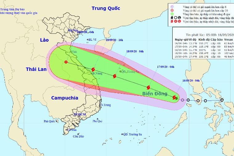 Công điện hỏa tốc số 06/CĐ-PCTT&TKCN về việc chủ động ứng phó với bão số 5