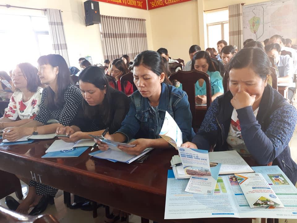 Tuyên truyền chính sách BHYT, BHXH tại Liên đoàn Lao động huyện Krông Búk