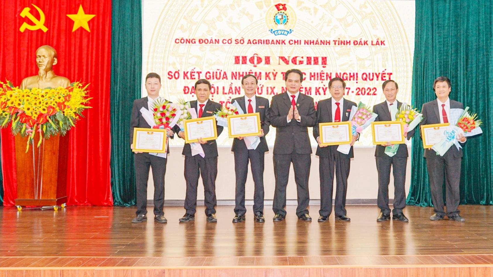 Sơ kết hoạt động công đoàn cơ sở Agribank tỉnh Đắk Lắk giữa nhiệm kỳ 2017 -2022