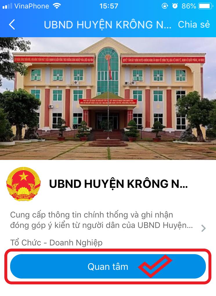 Kết quả ứng dụng mạng xã hội Zalo vào giải quyết TTHC huyện Krông Năng