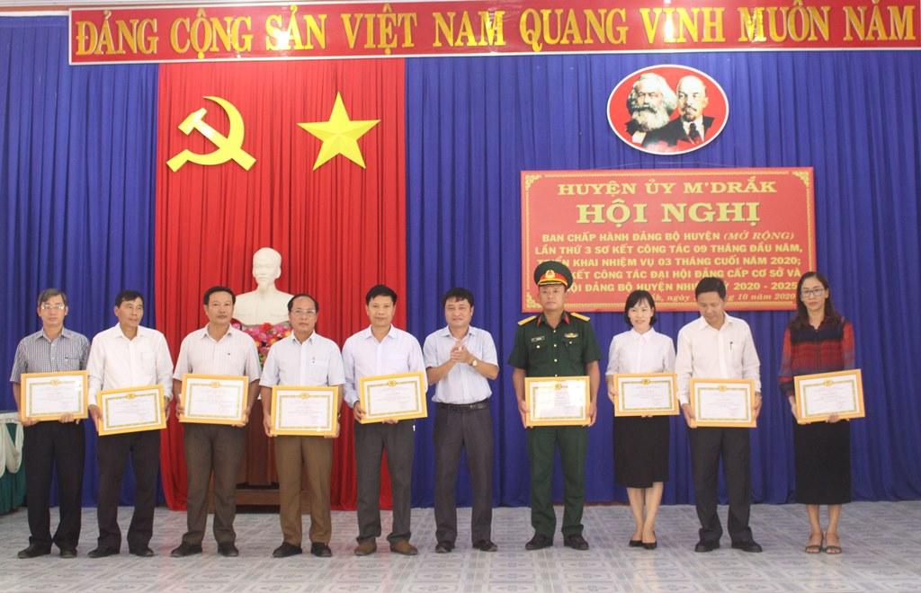 Hội nghị Ban Chấp hành Đảng bộ huyện M'Drắk  (mở rộng) lần thứ 3