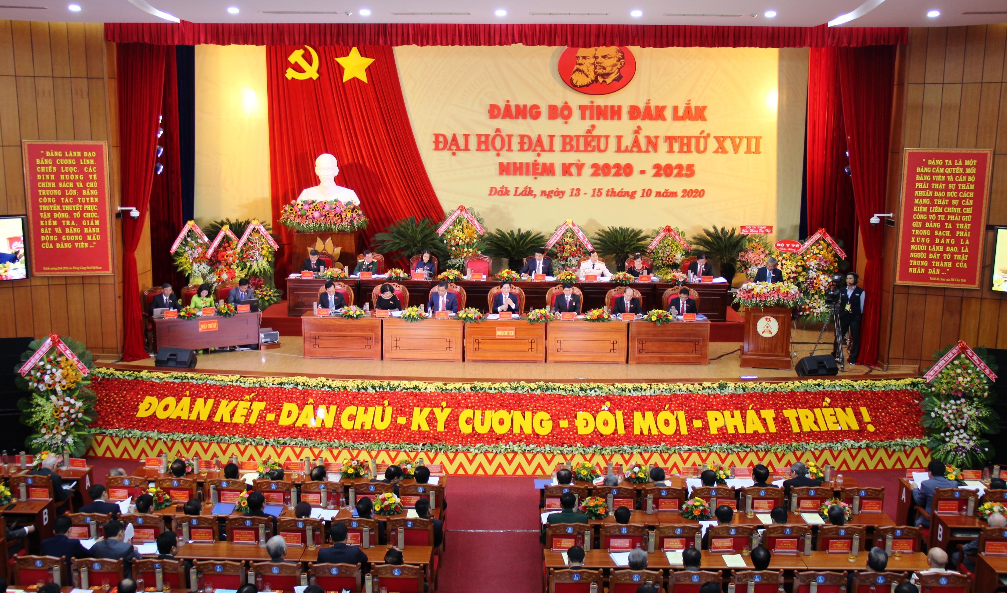 Khai mạc Đại hội đại biểu Đảng bộ tỉnh lần thứ XVII, nhiệm kỳ 2020 – 2025