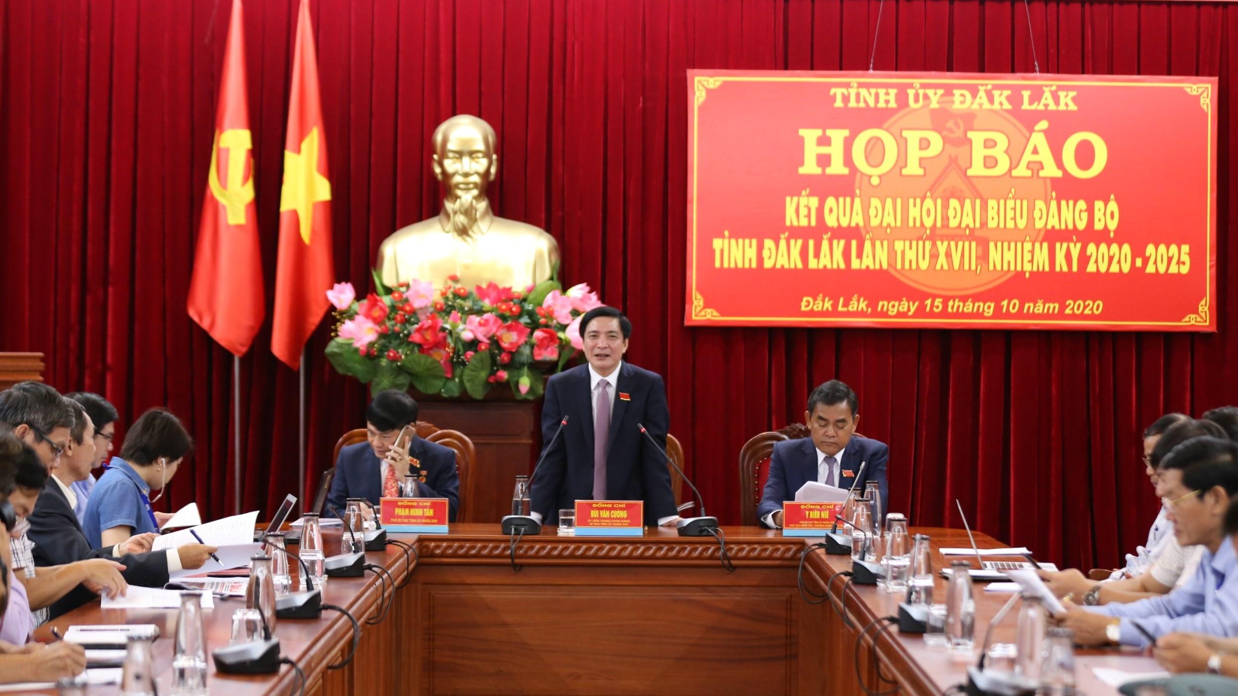 Họp báo thông tin về kết quả Đại hội đại biểu Đảng bộ tỉnh lần thứ XVII, nhiệm kỳ 2020 -2025