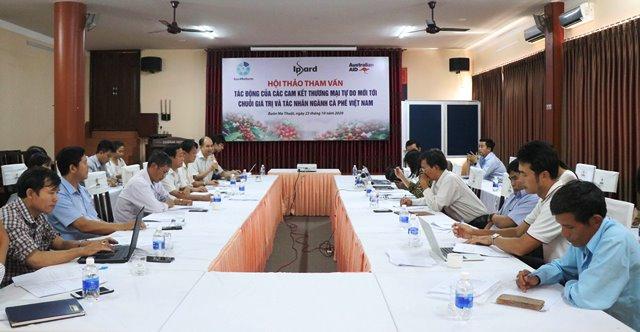 Hội thảo tham vấn về tác động của các hiệp định thương mại tự do thế hệ mới tới ngành cà phê Việt Nam