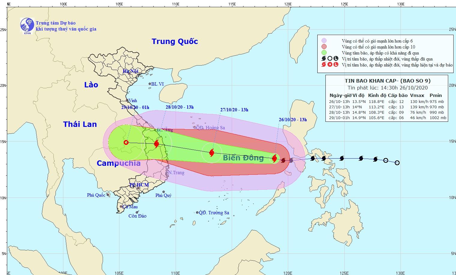 Tin bão khẩn cấp (Cơn bão số 9 - Molave)
