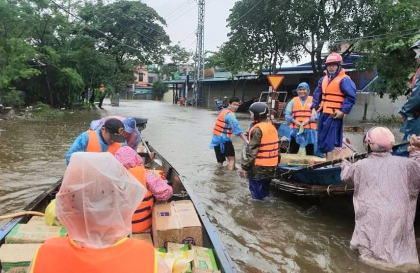 Hưởng ứng Lời kêu gọi của BCH Trung ương Hội Chữ thập đỏ Việt Nam và công tác tổ chức vận động, quyên góp tự nguyện hỗ trợ người dân vùng bị thiên tai