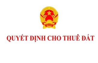 Quyết định cho Công ty cổ phần Cà phê Thắng Lợi thuê đất tại xã Hòa Đông, huyện Krông Pắc để sử dụng vào mục đích đất xây dựng cơ sở thể dục thể thao