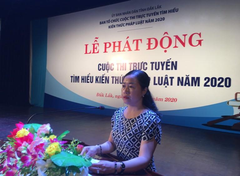 """Nhiều """"điểm cộng"""" cho Cuộc thi trực tuyến tìm hiểu kiến pháp luật năm 2020 của tỉnh Đắk Lắk"""