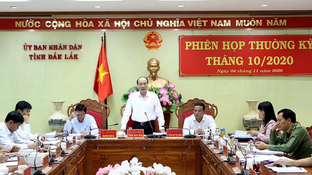 UBND tỉnh họp phiên thường kỳ tháng 10 năm 2020