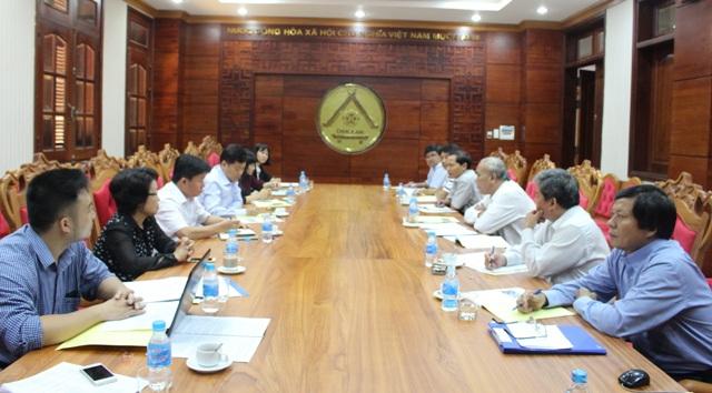 UBND tỉnh làm việc với Đoàn công tác của Ngân hàng Thế giới, Bộ Nông nghiệp và Phát triển nông thôn và Ngân hàng BIDV Việt Nam về Dự án VnSAT.