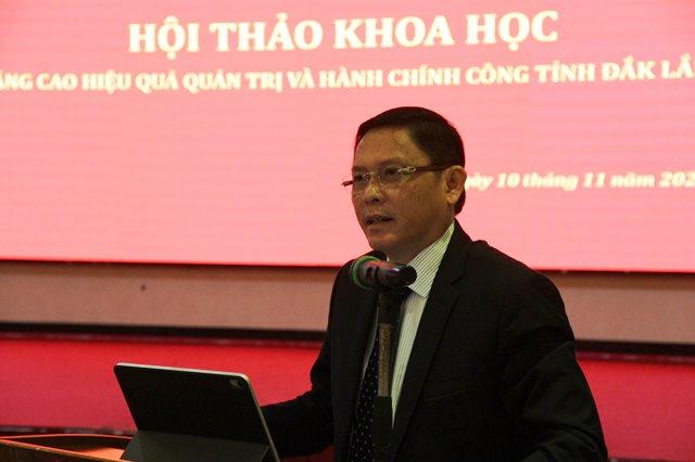 """Hội thảo khoa học """"Nâng cao hiệu quả quản trị và hành chính công tỉnh Đắk Lắk"""""""