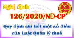 Triển khai Nghị định số 126/2020/NĐ-CP ngày 19/10/2020 của Chính phủ