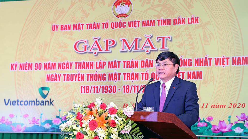 Gặp mặt nhân Kỷ niệm 90 năm Ngày thành lập Mặt trận dân tộc thống nhất Việt Nam