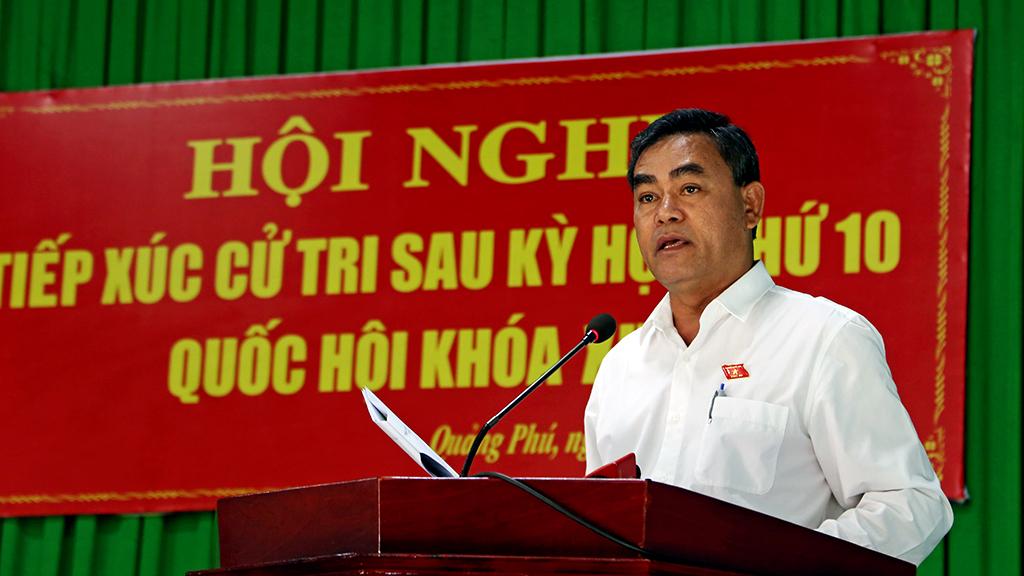Đoàn Đại biểu Quốc hội tỉnh Đắk Lắk tiếp xúc cử tri sau Kỳ họp thứ 10