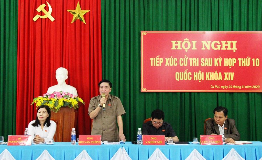 Đoàn Đại biểu Quốc hội tỉnh tiếp xúc cử tri huyện Krông Bông