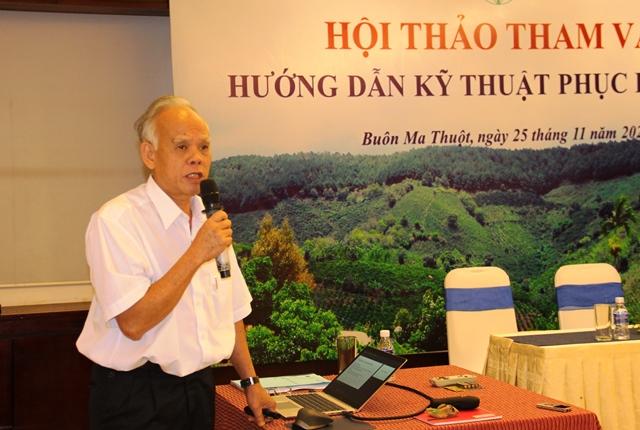 Hội thảo hướng dẫn kỹ thuật phục hồi rừng tự nhiên