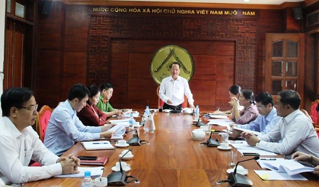 Thẩm tra các nội dung trình tại Kỳ thứ họp thứ XI Hội đồng nhân dân tỉnh khóa IX