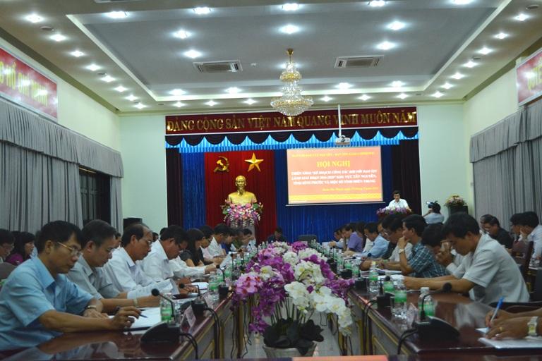 Hội nghị triển khai Kế hoạch công tác đối với đạo Tin lành giai đoạn 2016 – 2020 khu vực Tây Nguyên, tỉnh Bình Phước và một số tỉnh miền Trung.