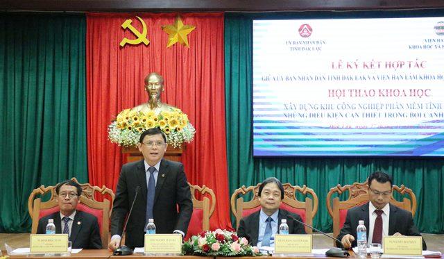 """Hội thảo khoa học """"Xây dựng khu công nghiệp phần mềm tỉnh Đắk Lắk - Những điều kiện cần thiết trong bối cảnh hiện nay"""""""