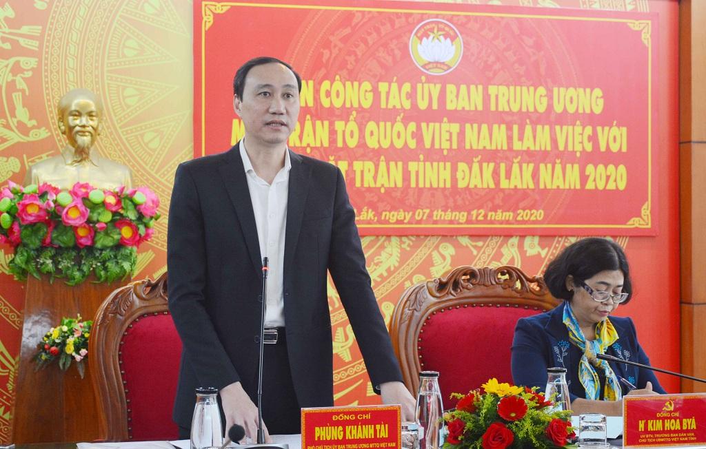Đoàn công tác của Ủy ban Trung ương Mặt trận Tổ quốc Việt Nam làm việc tại Đắk Lắk