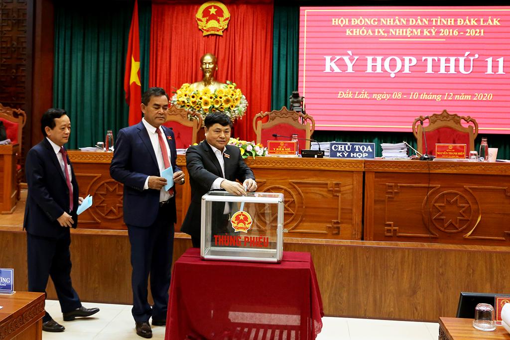 Kỳ họp thứ 11, HĐND tỉnh khóa IX: Bầu bổ sung Ủy viên UBND tỉnh khóa IX, nhiệm kỳ 2016 – 2021