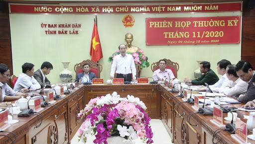 Thông báo kết luận của Chủ tịch UBND tại Phiên họp thường kỳ tháng 11/2020