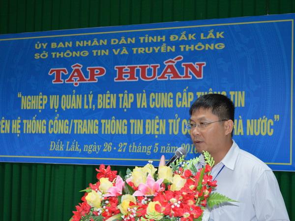 Tập huấn nghiệp vụ quản lý, biên tập và cung cấp thông tin trên hệ thống Cổng, Trang thông tin điện tử cơ quan nhà nước