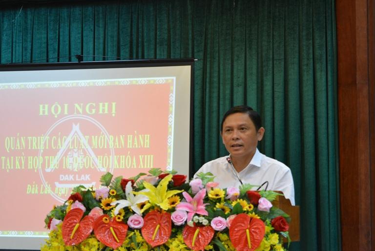 Hội nghị phổ biến, quán triệt các Luật mới được Quốc hội khóa XIII thông qua tại Kỳ họp thứ 10.