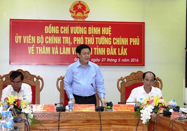 Phó Thủ tướng Vương Đình Huệ làm việc tại Đắk Lắk
