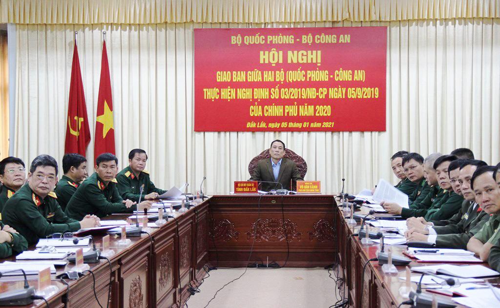 Hội nghị giao ban Bộ Quốc phòng và Bộ Công an về thực hiện Nghị định số 03 của Chính phủ