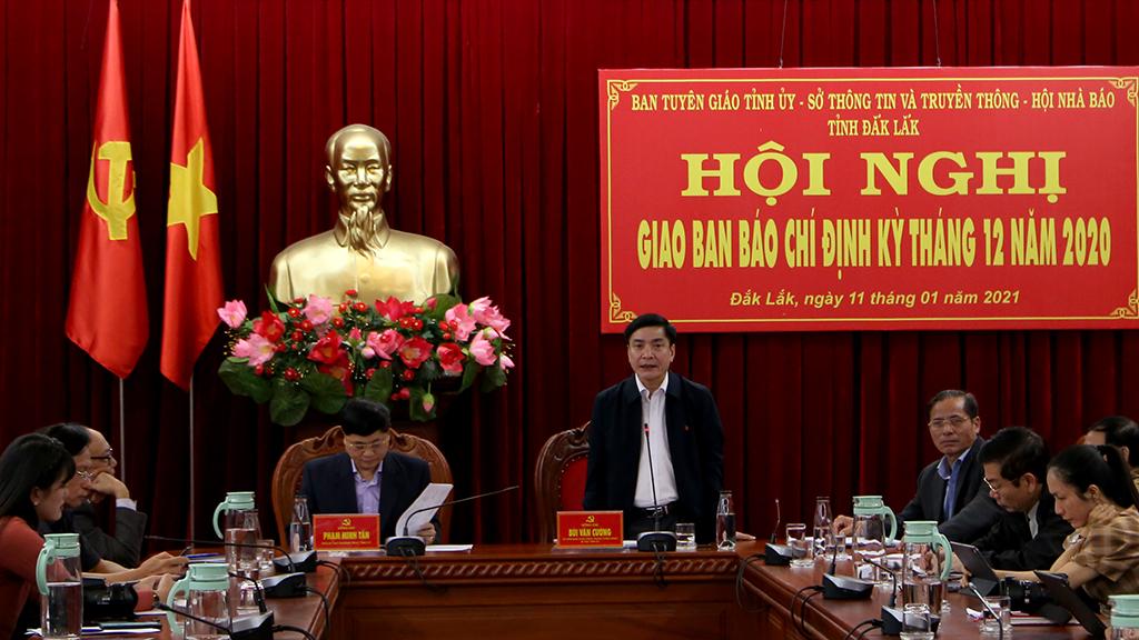 Bí thư Tỉnh ủy Bùi Văn Cường: Báo chí đồng hành cùng sự phát triển của tỉnh