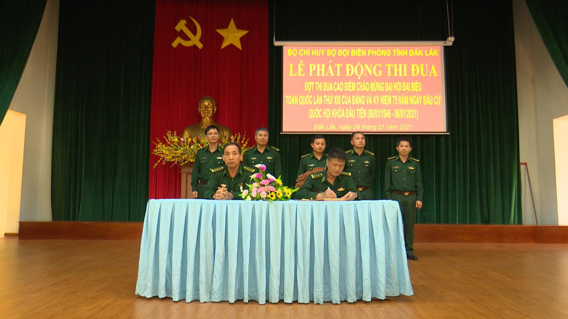 Bộ đội Biên phòng tỉnh Đắk Lắk phát động thi đua chào mừng Đại hội Đảng toàn quốc lần thứ XIII