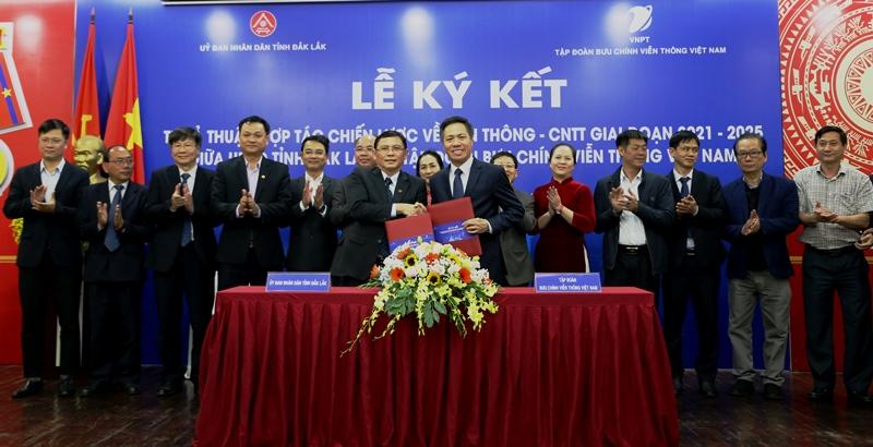 UBND tỉnh Đắk Lắk và Tập đoàn VNPT ký kết hợp tác chiến lược về Viễn thông- Công nghệ thông tin giai đoạn 2021-2025