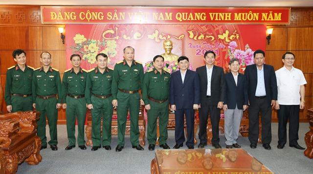 Chính ủy Quân khu 5 thăm, làm việc và chúc Tết Tỉnh ủy Đắk Lắk
