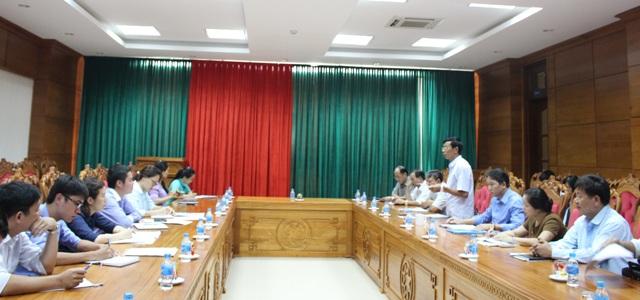 Đoàn công tác của Uỷ ban Công tác về các tổ chức phi chính phủ nước ngoài làm việc với UBND tỉnh.