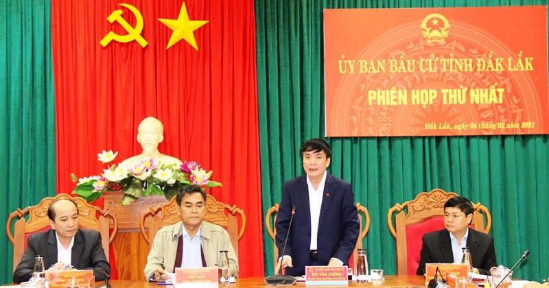 Ủy ban Bầu cử tỉnh họp phiên thứ Nhất
