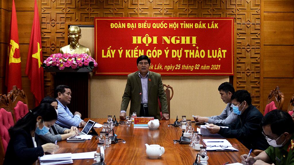 Đoàn Đại biểu Quốc hội tỉnh tổ chức góp ý Dự thảo Luật phòng, chống ma tuý