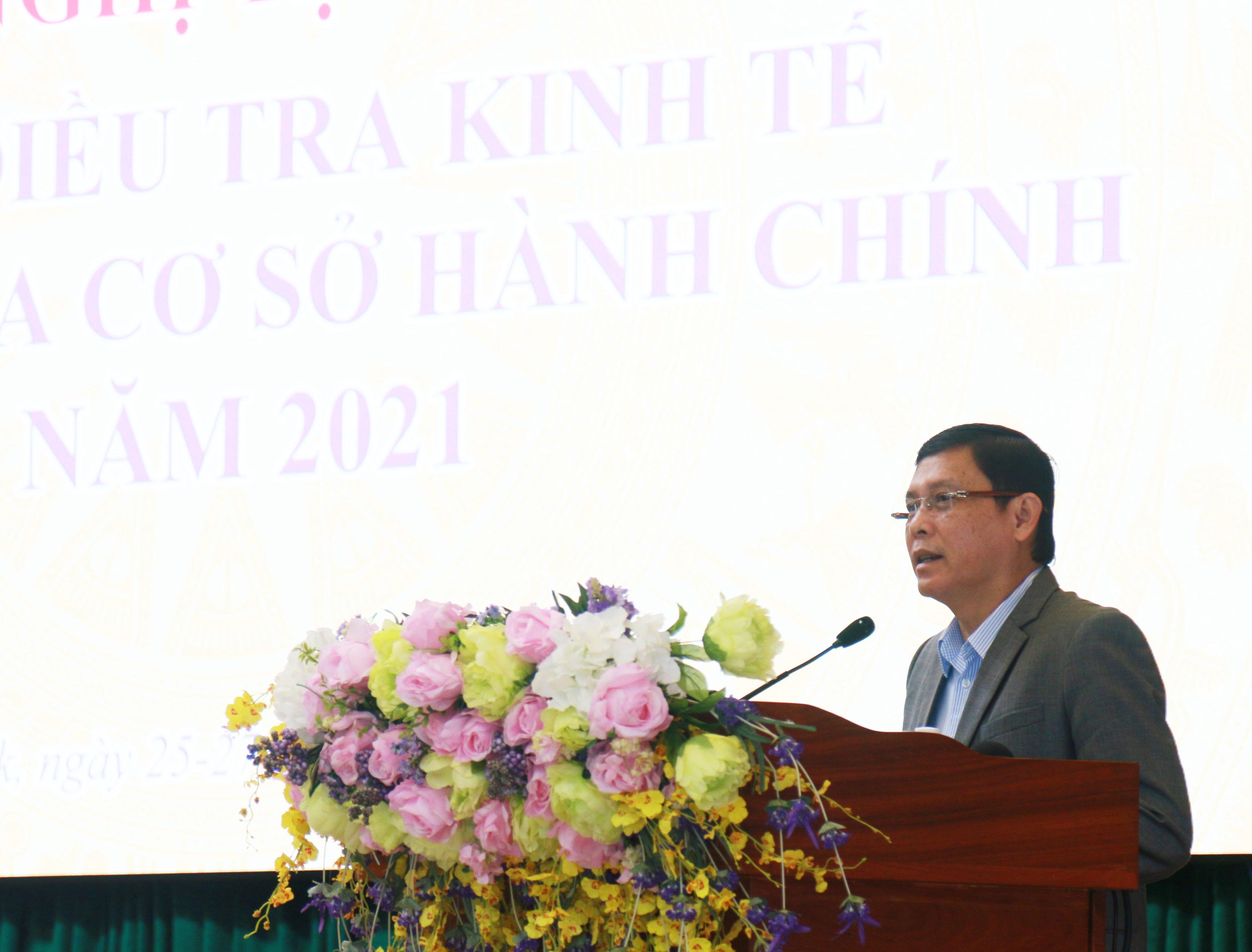 Đắk Lắk tập huấn nghiệp vụ Tổng điều tra kinh tế và cơ sở hành chính năm 2021
