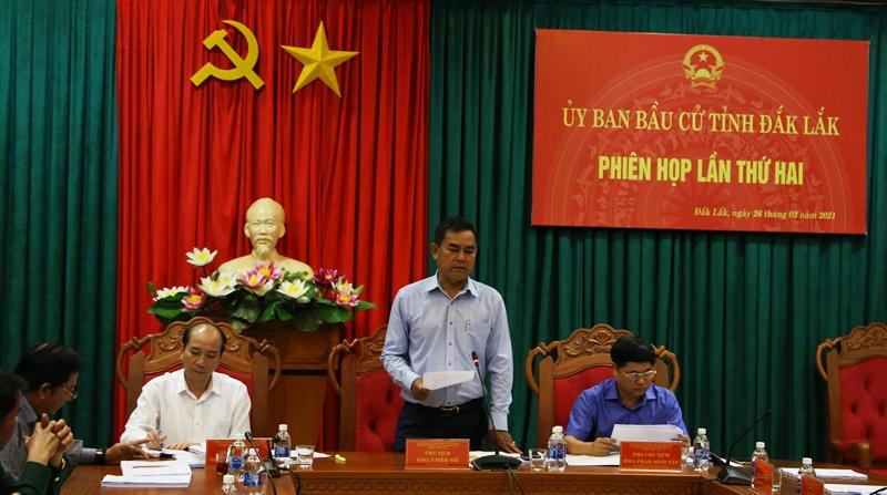 Ủy ban Bầu cử tỉnh họp phiên thứ hai