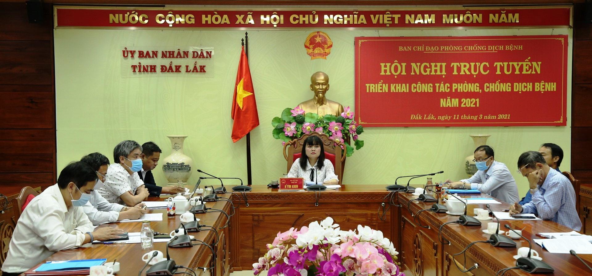Đắk Lắk triển khai công tác phòng chống dịch bệnh năm 2021