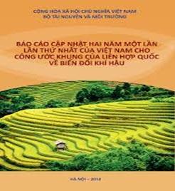 Báo cáo số liệu thống kê phục vụ xây dựng Thông báo quốc gia lần thứ ba của Việt Nam cho Công ước khung của Liên hợp quốc về biến đối khí hậu