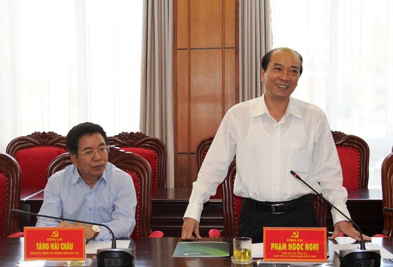 Thường trực Tỉnh ủy làm việc với Ngân hàng TMCP Ngoại thương Việt Nam